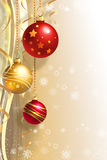 Christmas background with baubles Stock Photo