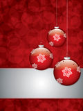 Christmas background with baubles Royalty Free Stock Images
