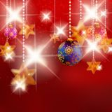Christmas background with baubles. Stock Images