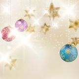Christmas background with baubles. Royalty Free Stock Photo