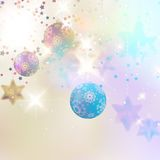 Christmas background with baubles. Royalty Free Stock Image