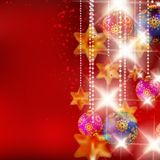 Christmas background with baubles. Stock Photos