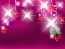 Christmas background with baubles. Royalty Free Stock Photos