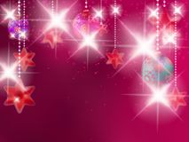 Christmas background with baubles. Stock Photo