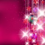 Christmas background with baubles. Royalty Free Stock Images