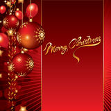 Christmas background with baubles and balloons Royalty Free Stock Image