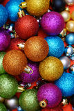 Christmas Background with Baubles. Colorful Christmas Background with many Christmas Baubles Royalty Free Stock Photo