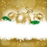 Christmas background with baubles and copy space Royalty Free Stock Image