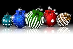 Christmas background with baubles decoration for you design Stock Photography