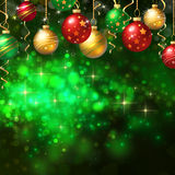 Christmas background with baubles Royalty Free Stock Photo