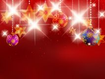 Christmas background with baubles. Stock Photography