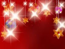Christmas background with baubles. Royalty Free Stock Photography