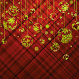 Christmas background with baubles. EPS 8 Stock Photo