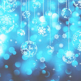 Christmas background with baubles. EPS 8 Royalty Free Stock Images