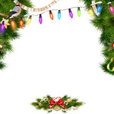 Christmas background with baubles. EPS 10 Stock Photography