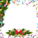 Christmas background with baubles. EPS 10. Christmas background with baubles and christmas tree. EPS 10 vector file included Stock Images