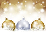 Christmas background with baubles Stock Photography