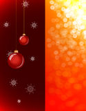 Christmas background with baubles and lights Royalty Free Stock Image