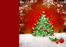 Christmas background with baubles and lights Royalty Free Stock Images