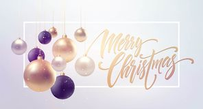 Christmas background with baubles and place for text. Vector Illustration. EPS10 vector illustration