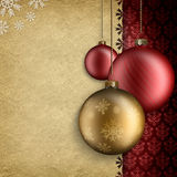 Christmas background - baubles and space for text Royalty Free Stock Photography