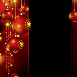 Christmas background with baubles and stars Stock Image