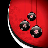 Christmas background with baubles Stock Photos