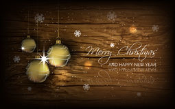Christmas background with baubles, wallpaper for greeting card Royalty Free Stock Image