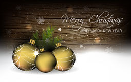 Christmas background with baubles, wallpaper for greeting card Royalty Free Stock Photos