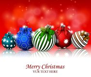 Christmas background with baubles for you design Royalty Free Stock Photo