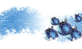 Christmas winter background. Christmas background with beautiful balls royalty free illustration