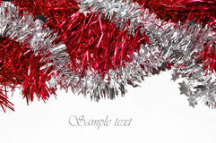 Christmas background. Beautiful background of Christmas chain Royalty Free Stock Photo