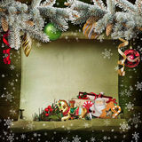 Christmas background with beautiful Christmas decorations Royalty Free Stock Photography