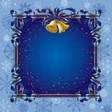 Christmas background with a bell Stock Images