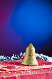 Christmas background with bell Stock Photo