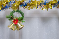 Christmas background, bell decorate Stock Photography