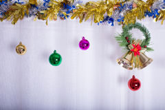 Christmas background, bell decorate Stock Image