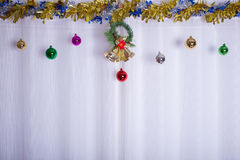 Christmas background, bell decorate Royalty Free Stock Photography