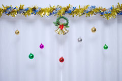 Christmas background, bell decorate Stock Images