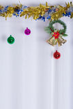Christmas background, bell decorate Royalty Free Stock Photos