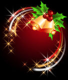 Christmas background with bells Stock Photos
