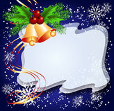 Christmas background with bells Stock Images