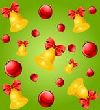 Christmas background with bells Royalty Free Stock Photography