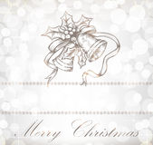 Christmas background with bells Royalty Free Stock Photo