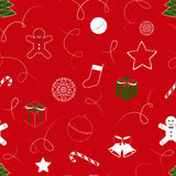 Christmas background with bells, seamless pattern Stock Photography