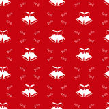 Christmas background with bells, seamless pattern Royalty Free Stock Images