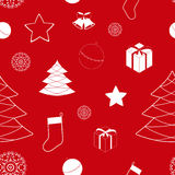 Christmas background with bells, seamless pattern Stock Images