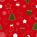 Christmas background with bells, seamless pattern Stock Image