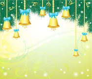 Christmas background with bells Stock Photo