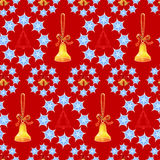 Christmas background with bells and trees Royalty Free Stock Image